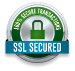 100% SSL Secured Transactions