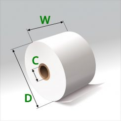 1 3/4 in x 150 ft Thermal Paper Standard Eco-Core