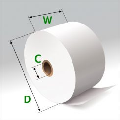 1 3/4 in x 220 ft Thermal Paper Standard Eco-Core