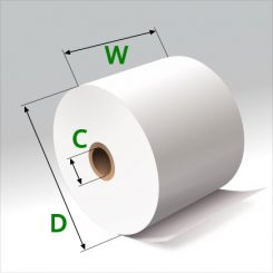 2 1/4 in x 185 ft Thermal Paper Standard Eco-Core