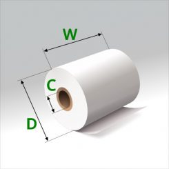 2 1/4 in x 75 ft Thermal Paper Standard Eco-Core