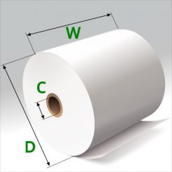 3 in x 200 ft Thermal Paper Standard Eco-Core