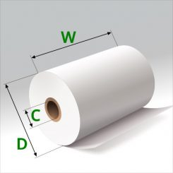 3 1/8 in x 100 ft Thermal Paper Standard Eco-Core
