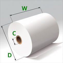 3 1/8 in x 165 ft Thermal Paper Standard Eco-Core