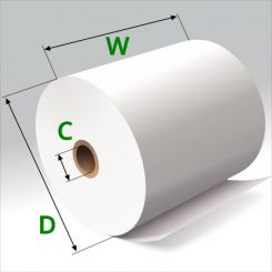 3 1/8 in x 200 ft Thermal Paper Standard Eco-Core