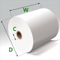 3 1/8 in x 220 ft Thermal Paper Standard Eco Cores