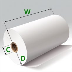 4 3/8 in x 125 ft Thermal Paper Standard Eco Core