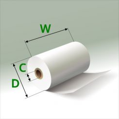 2 1/4 in x 45 ft Mini Eco-Core (100) Rolls