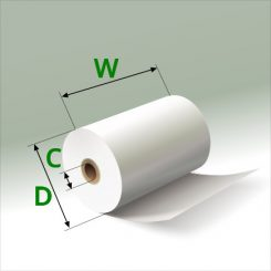 2 1/4 in x 60 ft Mini Eco-Core (100) Rolls