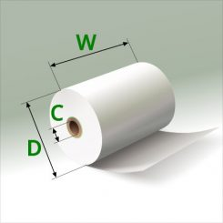 2 1/4 in x 75 ft Mini Eco-Core (100) Rolls