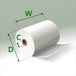 2 1/4 in x 90 ft Mini Eco-Core Rolls